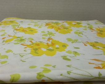 Twin Flat Sheet, 1980s, vintage sheet, vintage bedding