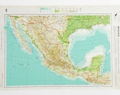 Vintage Mexico map - Large Map of Mexico, Old Mexican map