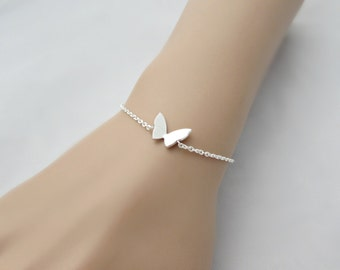 Silver Butterfly Bracelet, Butterfly Bracelet, Bridesmaid Gifts, British Seller UK, Dainty Butterfly, Gifts for Girls, Butterfly Jewelry