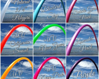 "Mystery Colored 3/4"" or 5/8"" PolyPro Hula Hoop! You choose size, we choose the color"