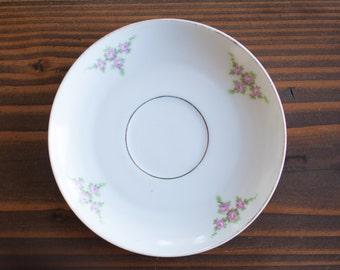 JEWELRY DISH Wedding RING Trinket dish Vintage Saucer Floral Jewelry storage