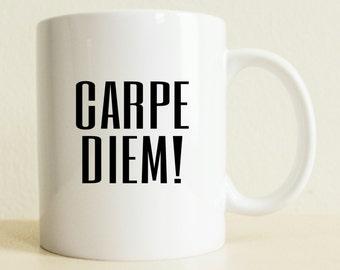 Husband Gift | Carpe Diem Mug | Graduation Gift | Positive Vibes | Boyfriend Gift | Wife Gift | Tea Lover Mug | College Student Gift