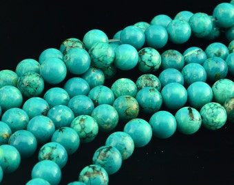 """16""""  Natural  Turquoise   Gemstone  Beads Bead ---10mm"""