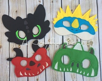 Dragon dress up and birthday party favor masks, how to train your dragon, toothless, dragon birthday, how to train your dragon party, dragon