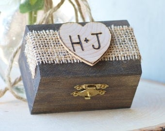 rustic ring box, custom ring bearer box , pillow alternative