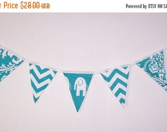 SALE Fabric Bunting. Flags. Banner. Wedding Banner. Party Banner. Baby Shower Bunting. Wedding  Bunting. Nautical. Chevron. Ready To Ship