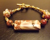 Red Jasper, Ethiopian Opal and 14K Gold Vermiel Bracelet