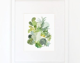 Cactus No. 5 - Watercolor Art Print