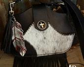 Leather Purse, Leather Bag, Cross Body Bag, Black Leather Purse