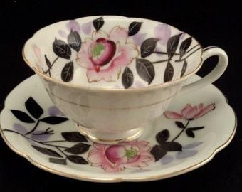 Japanese Chugai Tea Cup and Saucer