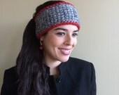 EAR WARMER, Headband, Crochet, Grey Sky, Heather , 12 B