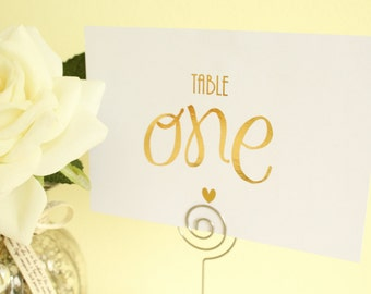 Wedding Table Numbers for Wedding Table Decor/Centerpeice in Gold / Silver / Rose Gold/Champagne Gold/Copper/Colour Foils