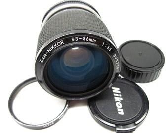Nikkor 893738, 43-86mm zoom lens for Nikon AI mount