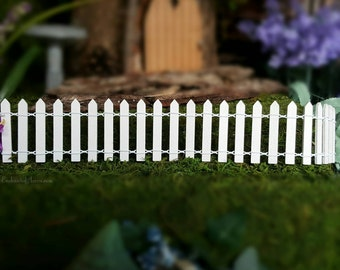 Miniature Fairy Garden White Picket Fence - Miniature White Picket Wood Fence Fairy Garden Furniture Fairy Garden Accessories