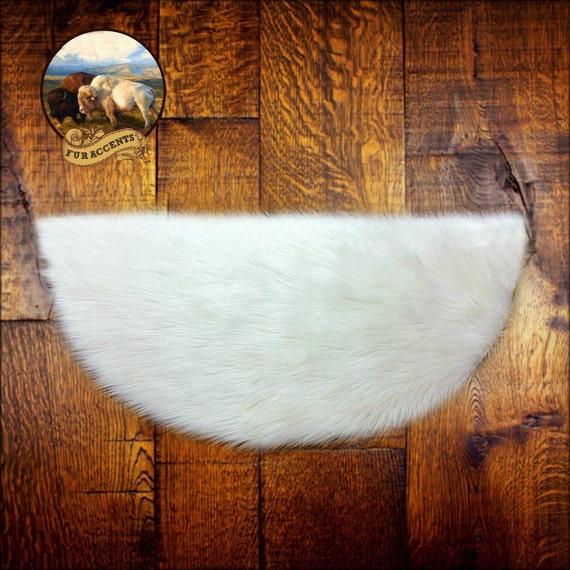 White Shag Sheepskin Rug Classic Half Round Accent By