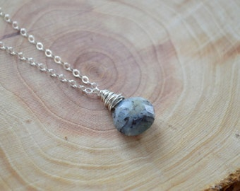 Genuine Jasper Gemstone Necklace- Jasper Necklace