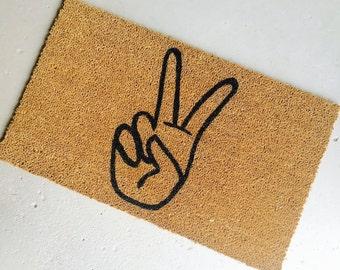 dueces handpainted coir doormat