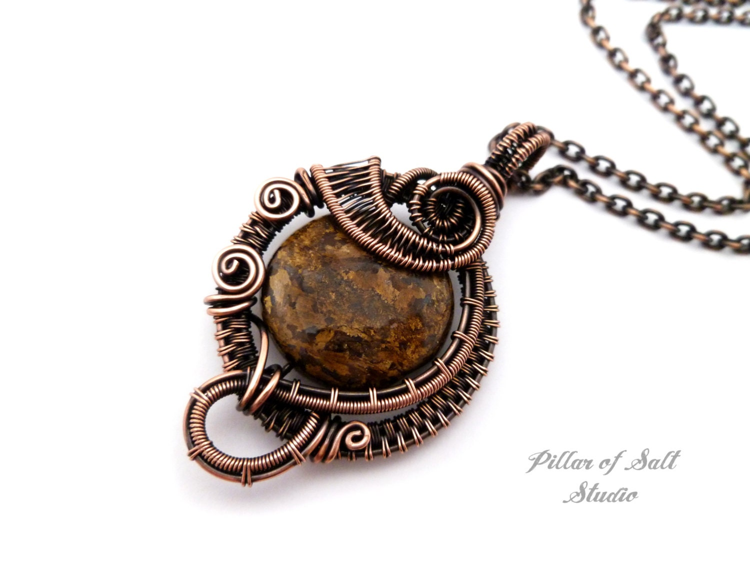 wire wrapped pendant copper jewelry wire by