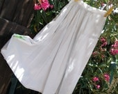 Antique Long Victorian Petticoat White Half Slip Handmade French Cotton Skirt Clothing for Costumes Medium #sophieladydeparis