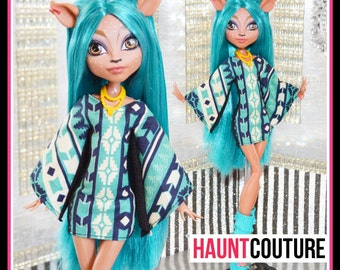 "Monster Doll Haunt Couture: ""Boho Ghoul"" mini dress high fashion dress clothes"