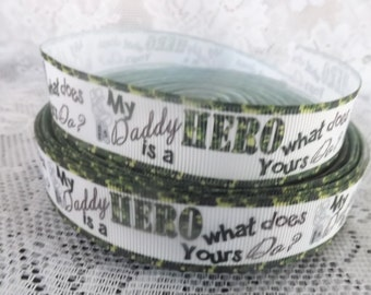 Daddy Ribbon 7/8 Daddy grosgrain ribbon Hero ribbon Daddy is a hero ribbon