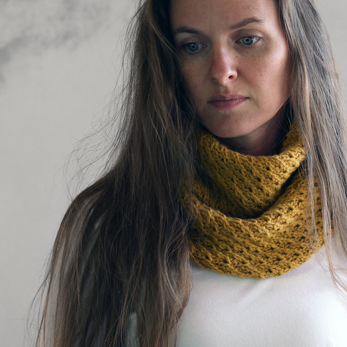 Elegant Cowl Knitting Pattern DIGNITY a set of by bromefields