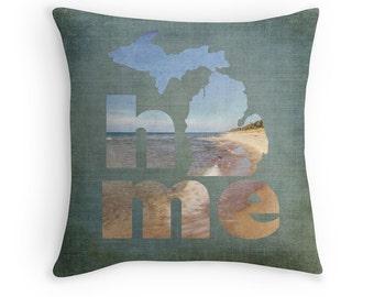 Michigan Home Pillow Cover, Lake Michigan Pillow Cover, Holland Michigan, Cabin Decor, Lake House Decor, Rustic Decor, MI Decor, West MI
