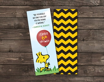 Personalized Bookmarks, Bookmark Favors, Peanuts Party Favors, Peanuts Party, Peanuts Birthday Party, Peanuts Birthday, Peanuts Bookmarks