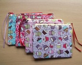 Very Cute Cupcake Money/Cards Purse with Different Colour Each Side, Complementary Interior and Pop of Colour Zip
