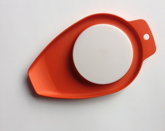 Tupperware Tiny Cutting Board - Orange Chop N Pour 1432