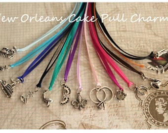 12 pcs New Orleans Wedding Cake Pull Charms Set (CP01)