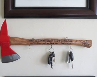 Personalized Key Holder Firefighter's Axe