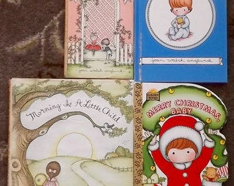 4 Joan Walsh Anglund books Morning is a Little Child, Love is a Special Way of Feeling