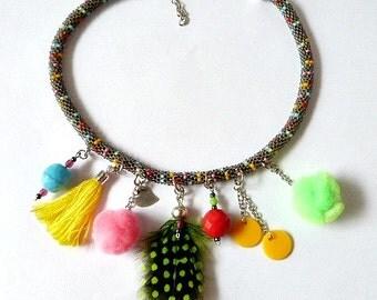 Collar bead crochet boho