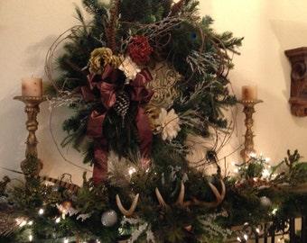 Fireside Christmas Wreath