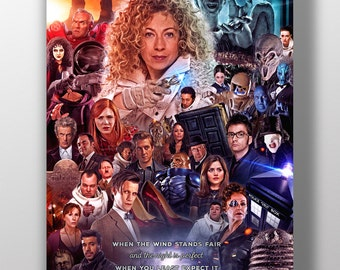 Doctor Who Poster - 'You Watch Us Run' (River Song)