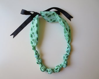 Soft Fabric Necklace