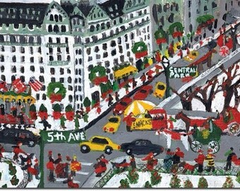 View of 5th Ave. and 59th Street, Boxed Holiday cards by Michelle Winters