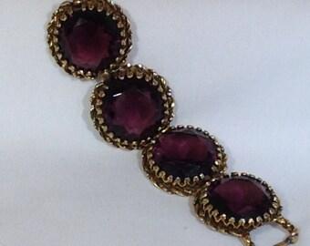 Purple Stone Vintage Bracelet