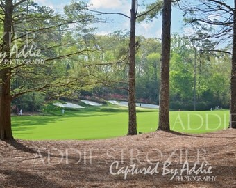 Augusta National Golf Course Georgia Hole 13 Print Phil Mickelson Shot Masters