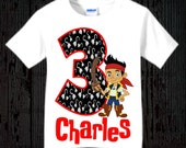 Jake and the Neverland Pirates Boys Birthday Shirt