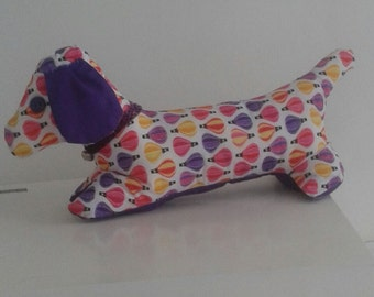 purple patterned pooch