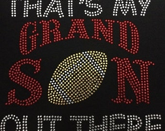 That's my grandson out there football bling tee