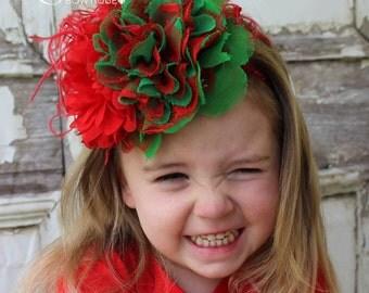Christmas Headband, Holiday Headband, Infant Headband, Toddler Headband, Baby Headband,  Photo Prop