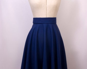 Circle Skirt in Blue
