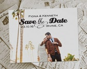 """Wedding Save The Date Magnets - GormansPark Vintage Photo Personalized 4.25""""x5.5"""""""