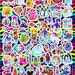 Colorful LISA FRANK Sticker Sheet featuring Cats, Dogs, Dolphins, Pastries, Animals, Butterflies, Desserts - Over 100 Stickers