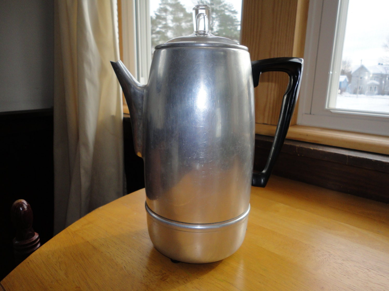 Mirro Percolator Coffee Maker : Mirro Matic Electric Percolator 9 Cup Coffee Pot by TammysFindings