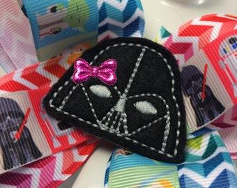 Galaxy hair bow-warrior hair bow-girls hair bow-chevron hair bow-felty hair bow-galaxy ribbon-baby hair bow-simple hair bow-boutique bow