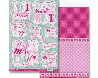 A4 Fushia Pink Backing Card